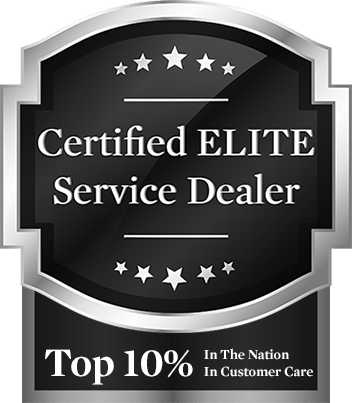 Certified Elite Service Dealer — Top 10% in the Nation in Customer Care