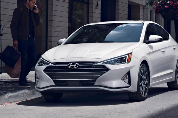 2020 Hyundai Elantra parked on the side of a street