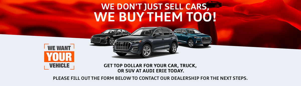 We dont just sell cars, we buy them too!