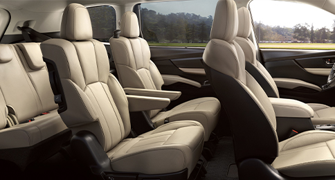 2021 Ascent 8 - Passenger - Studio Premium - Warm Ivory Leather Interior - Interior, Showing 7 Passenger