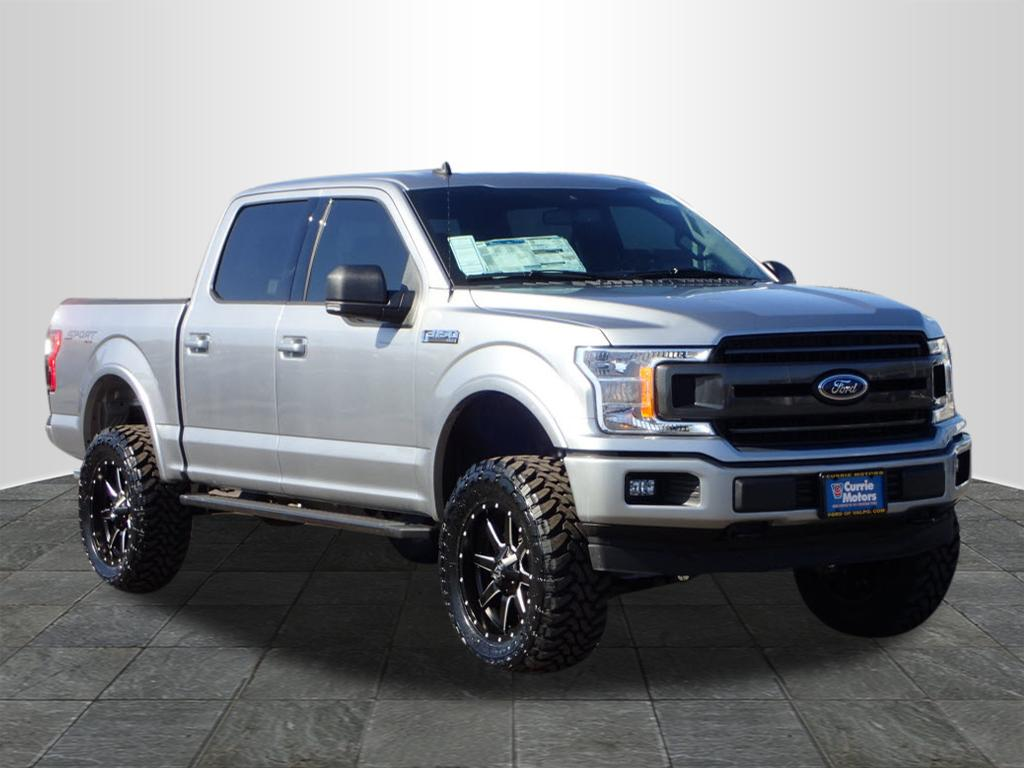 white lifted truck