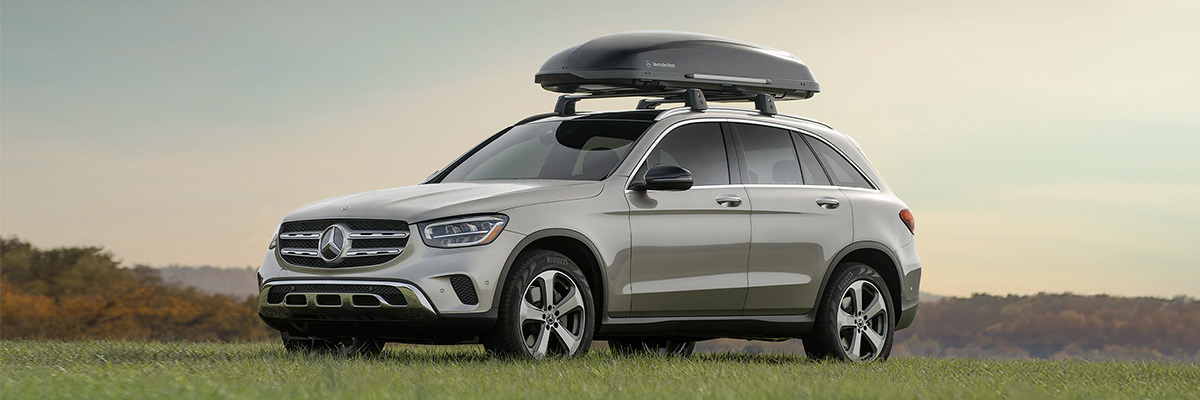 Mercedes-Benz with rooftop accessories