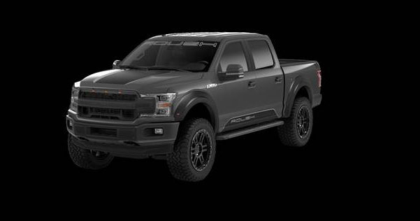 frontal side view of Ford F-150 ROUSH 4WD Truck LeadFoot on a black background