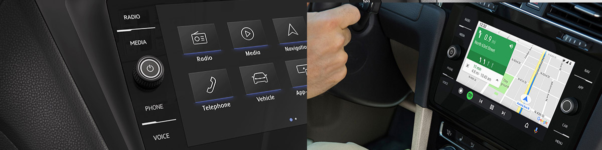bluetooth screen features of a vw Jetta