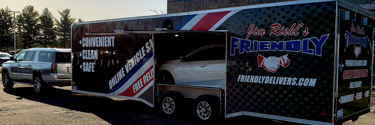 Jim Riehl's Friendly Honda Home Delivery trailer