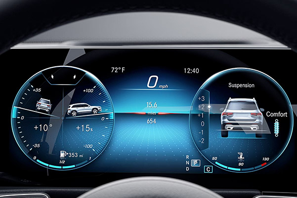 2020 Mercedes-Benz technology dashboard