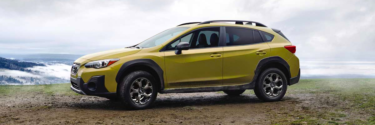 2021 Subaru Crosstrek shown in Plasma Yellow Pearl