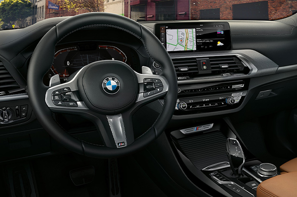 Rule the road from the sporty, spacious interior of the X3 M40i.