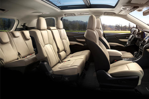 2021 Ascent Limited 8-passenger interior shown in Warm Ivory Leather