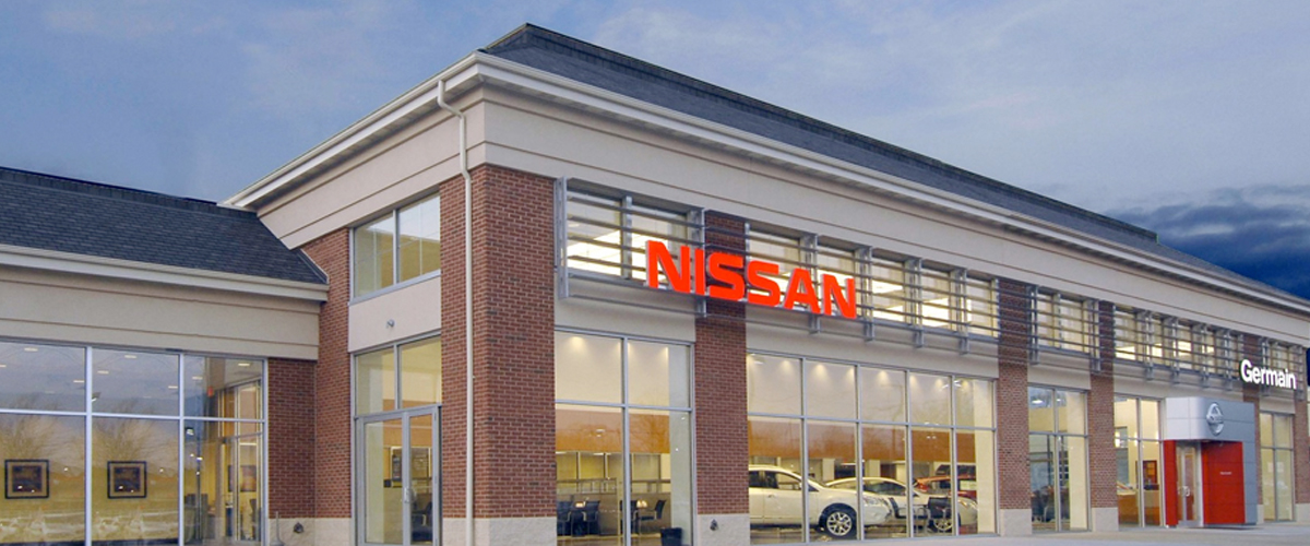 Exterior image of Germain Nissan Dealership